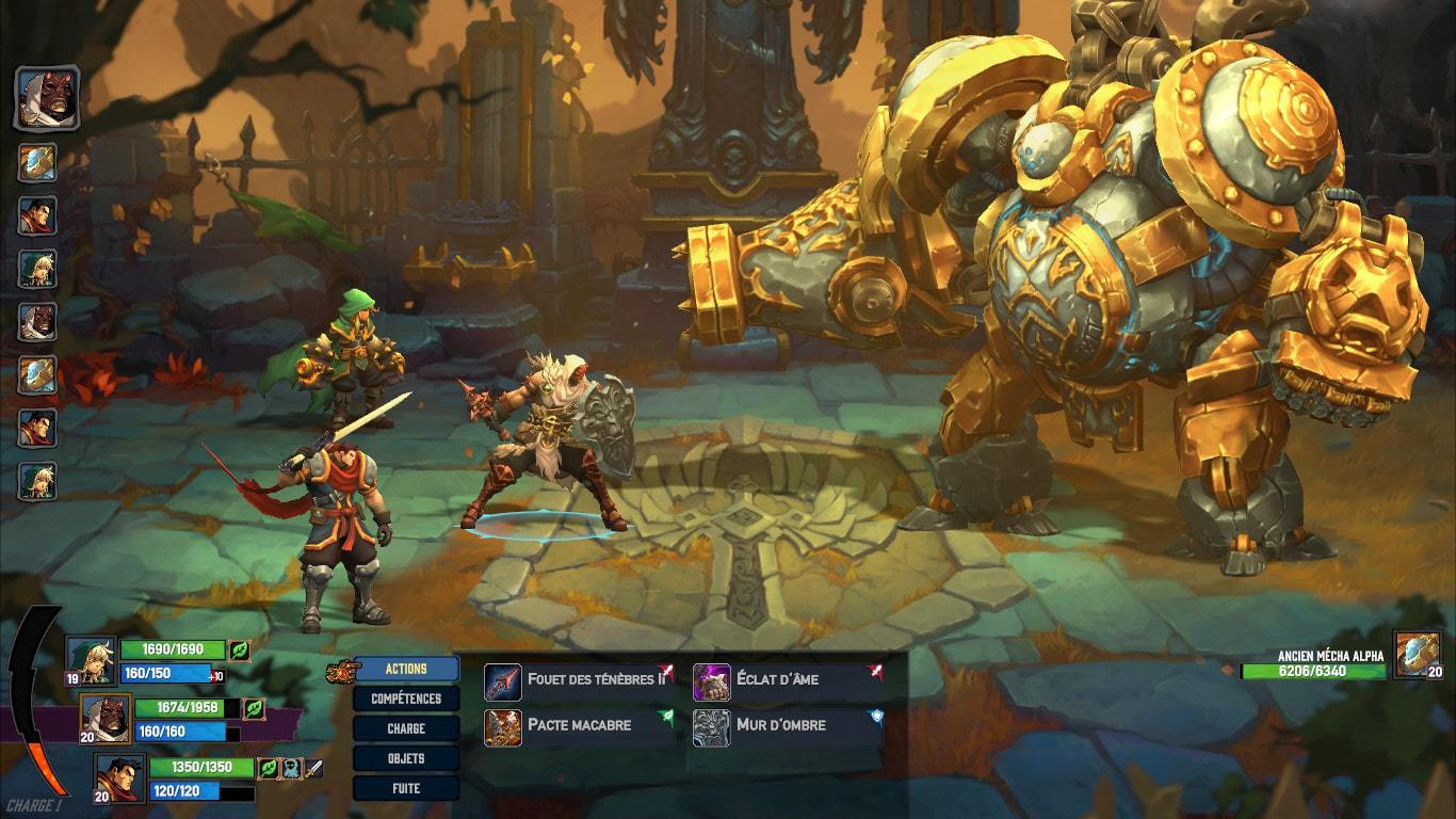 battle chasers combat