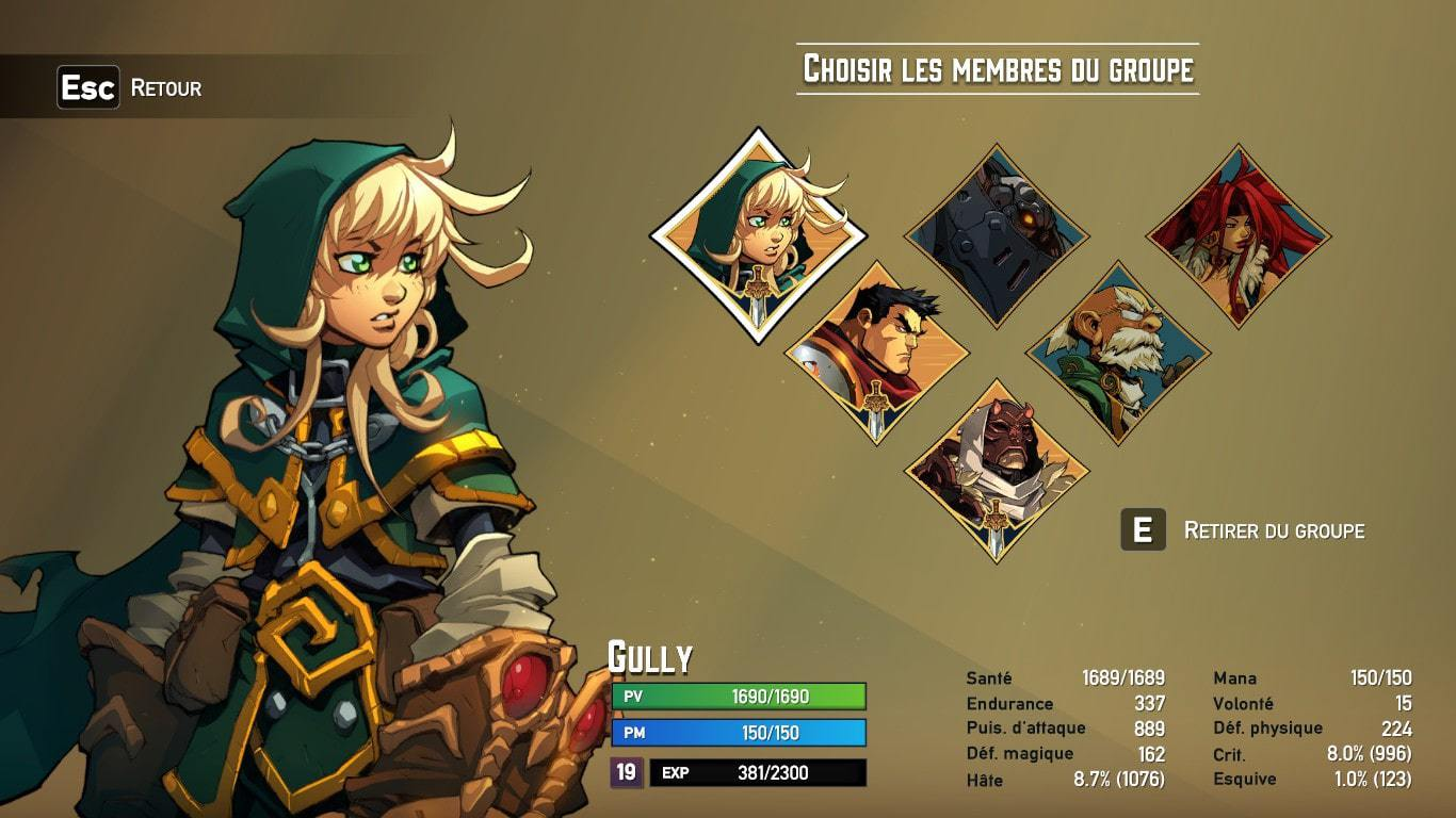 battle chasers personnages